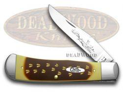 Case xx Backpocket Knife Deer Tracks Brown & Cream Delrin 1/300 Stainless 44695