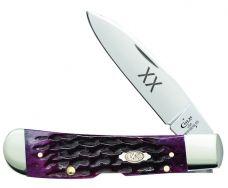 Case xx Tribal Lock Knife Jigged Cabernet Bone Stainless Pocket Knives 47522
