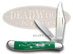 Case xx Father Peanut Knife Rough Green Handle 1/500 Stainless Pocket Knives
