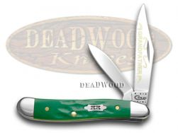 Case xx Grandfather Peanut Knife Rough Green Handle 1/500 Stainless Pocket