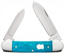 Case xx Canoe Knife Smooth Caribbean Blue Bone Stainless 50669 Pocket Knives