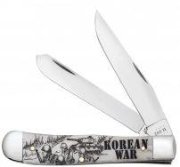 Case xx Korean War Trapper Knife Natural Bone Stainless 50951 Pocket Knives