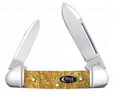 Case xx Butterbean Knife Gold Stardust Kirinite Stainless Black SparXX 50985