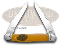 Case xx Harley Davidson� Motorcycles Persimmon Orange Bone Muskrat 52071 Knife