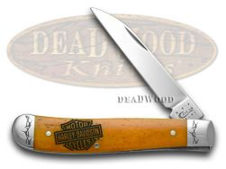 Case xx Harley Davidson� Motorcycles Persimmon Orange Mini Trapper 52072 Knife