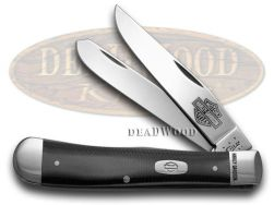 Case xx Harley Davidson� Motorcycles Black & Silver G-10 Trapper 52073 Knife