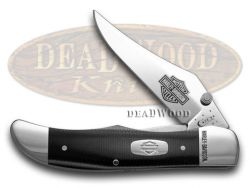 Case xx Harley Davidson Mid Folding Hunter Knife Black & Silver G-10 52074