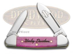 Case xx Harley Davidson Baby Butterbean Knife Pink Bone Stainless Pocket 52104