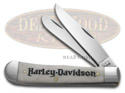 Case xx Harley Davidson Trapper Knife Natural Bone Stainless Pocket Knives 52140