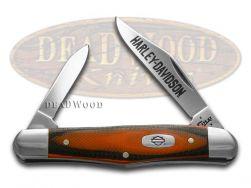 Case xx Harley Davidson Half Whittler Knife Orange & Black G-10 Stainless 52168