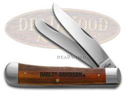 Case xx Harley Davidson Trapper Knife Cinnamon Natural Bone Stainless 52187