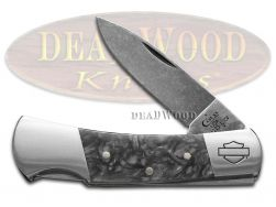 Case xx Harley Davidson Lockback Knife Black Smoke Kirinite CV Pocket 52211