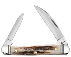 Case xx Vintage Deer Stag Mini Copperhead Stainless Pocket Knife 52951 Knives