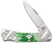 Case xx Lockback Knife Jigged Emerald Green Bone Worked Bolsters Stainless 53252