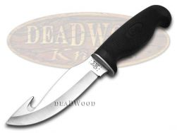 Case xx Fixed Blade Gut Hook Knife Lightweight Black Synthetic Stainless 00532