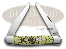 Case xx Muskrat Knife Spiders Yellow Delrin Handle CV Pocket Knives 56 SW