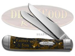 Case xx Trapper Knife Father and Son Antique Bone 1/500 Stainless Pocket Knives