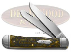 Case xx Trapper Knife Grandfather and Grandson Antique Bone 1/500 Pocket Knives