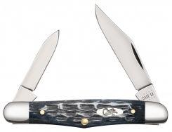 Case xx Half Whittler Knife Pocket Worn Jigged Gray Bone CV Steel 58416 Knives