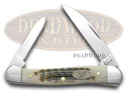Case xx Rootbeer Jigged Bone Mini Copperhead Pocket Knife 58615 Knives