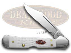 Case xx Sparxx Mini Copperlock Knife Jigged White Delrin Stainless Pocket 60185