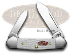 Case xx White Jigged Synthetic Baby Butterbean Pocket Knife 60189 Knives