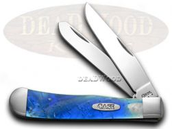 Case xx Blue Luster Trapper Pocket Knife 6073BL Knives