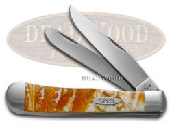 Case xx Trapper Knife Gold Luster Corelon Handle Stainless Pocket Knives