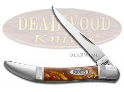 Case xx Toothpick Knife White Pearl & Sun Dance Corelon Stainless Pocket Knives