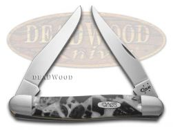 Case xx Muskrat Knife Chipped White Pearl & Black Pearl Corelon Stainless