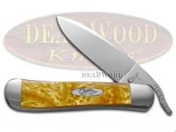 Case xx Russlock Knife Antique Gold Corelon Stainless 6084AG Pocket Knives