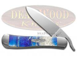 Case xx Russlock Knife Blue Luster Corelon Stainless 6084BL Pocket Knives