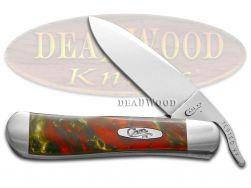 Case xx Russlock Knife Fire Mist Green Corelon Stainless Pocket Knives 6084FMG