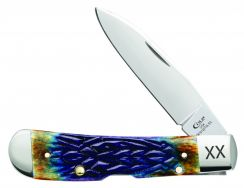 Case xx Tribal Lock Knife Jigged Burnt Purple Bone Stainless 61800 Pocket Knives