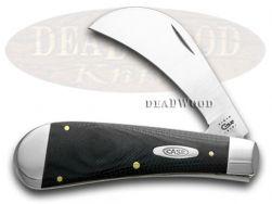Case xx Black G10 Hawkbill Pruner Pocket Knife 6241 Knives