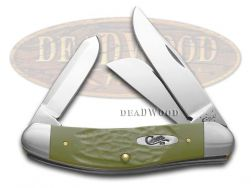 Case xx Sowbelly Knife Rough Olive Green Delrin Stainless Pocket Knives 63727