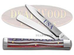 Case xx Doctor Knife Star Spangled Natural Bone US Flag Stainless Pocket 64128
