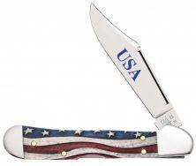 Case xx Mini Copperlock Knife Star Spangled Banner Natural Bone 64141 Knives