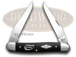 Case xx Muskrat Knife Friends of Coal Black Delrin 1/500 Stainless Pocket