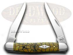 Case xx Muskrat Knife Spider Web Antique Bone 1/500 Stainless Pocket Knives
