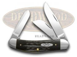 Case xx Jigged Genuine Buffalo Horn Sowbelly Pocket Knife 65015 Knives