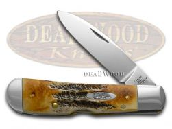 Case xx Tribal Lock Knife 6.5 Bone Stag Handle Stainless Pocket Knives 65312