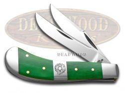 Case xx Saddlehorn Knife Christmas Bright Green Bone Wreath Center Bolster 65585