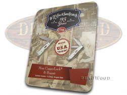 Case xx Mini Copperlock & Peanut Knife Set White Delrin Stainless Pocket 66252