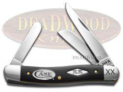 Case xx Medium Stockman Knife Black Delrin White Logo 1/500 Stainless Knives