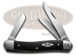 Case xx Stockman Knife Black Delrin Handle 1/500 Stainless Pocket Knives 06697