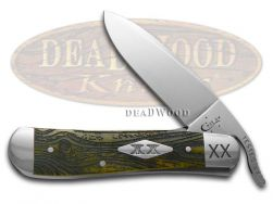 Case xx Russlock Knife Wood Grain Olive Green Bone 1/500 Stainless Pocket