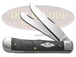 Case xx Trapper Knife Tortoise Shell Gray Bone 1/500 Stainless Pocket Knives