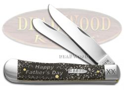 Case xx Happy Father's Day Trapper Knife Natural Bone 1/500 Pocket Knives