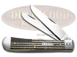 Case xx US Flag Natural Bone Trapper 1/500 Stainless 6740USF Pocket Knife Knives